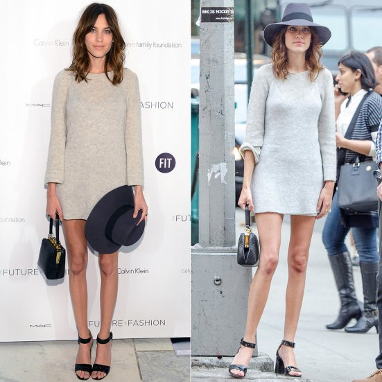 Where-Alexa-Chung-Style-Online-Grey-Sweater-Dress